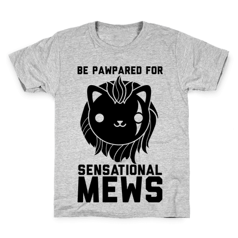 Be Pawpared for Sensational Mews Scar Kitty Kids T-Shirt
