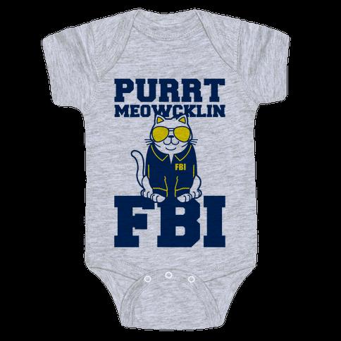 Purrt Meowcklin FBI Baby Onesy