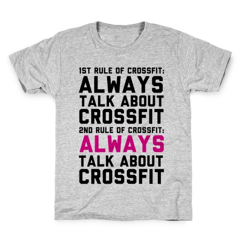 04e821d70004d2 The Rules of Crossfit T-Shirt | LookHUMAN