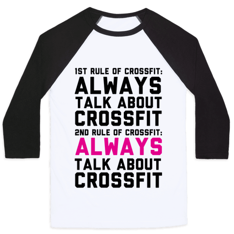 The Rules of Crossfit Baseball Tee