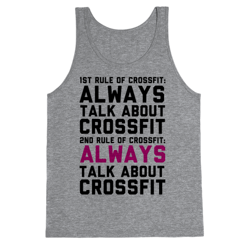 The Rules of Crossfit Tank Top