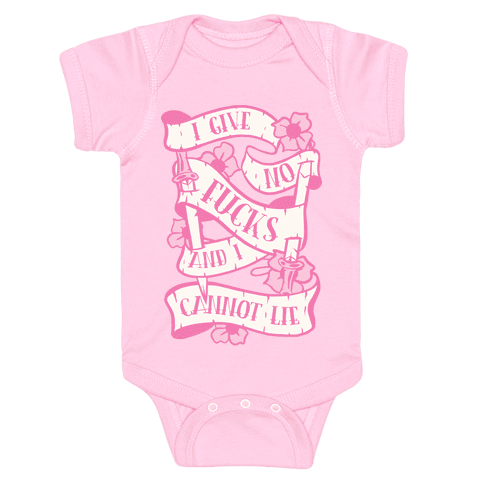 I Give No F***s And I Cannot Lie Baby Onesy