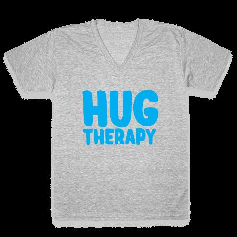Hug Therapy V-Neck Tee Shirt