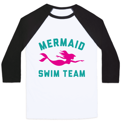 Mermaid Swim Team Baseball Tee