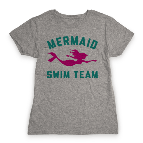 Mermaid Swim Team Womens T-Shirt