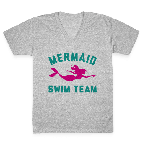 Mermaid Swim Team V-Neck Tee Shirt