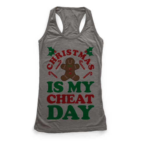 Christmas Is My Cheat Day Racerback Tank Top