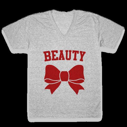 Beauty V-Neck Tee Shirt