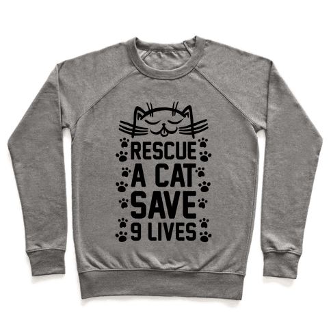 Rescue A Cat Save Nine Lives Pullover