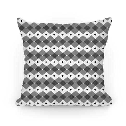 Black Checkered Pattern Pillow
