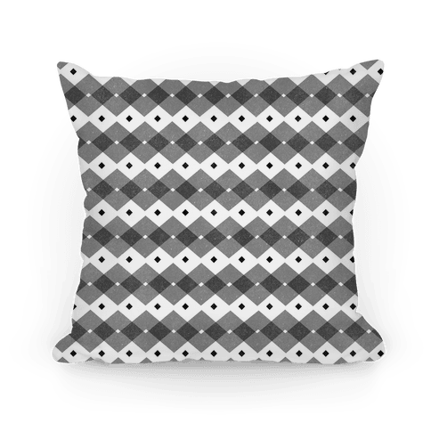 Black Checkered Pattern Pillow
