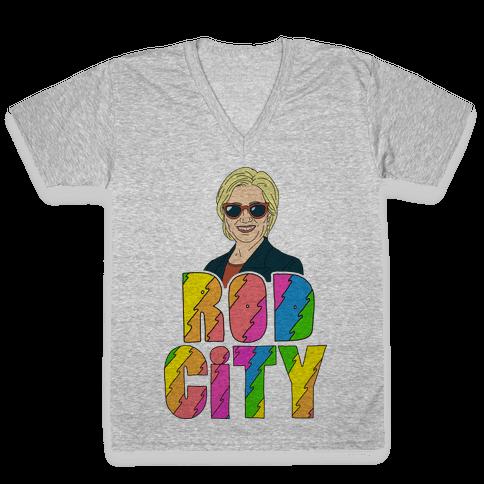 Rod City V-Neck Tee Shirt