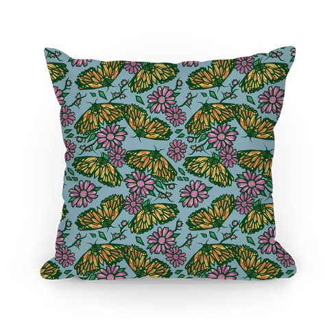 Butterflies In Bloom Pillow