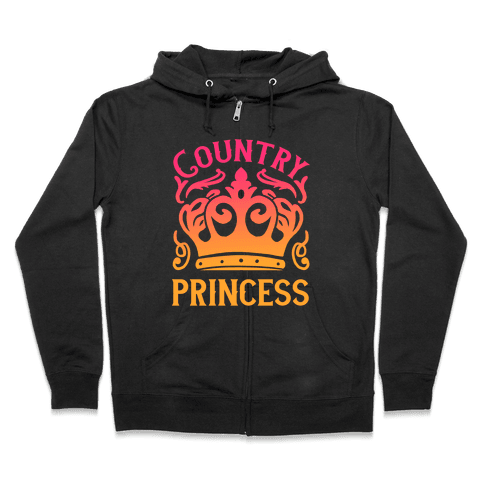 Country Princess Zip Hoodie