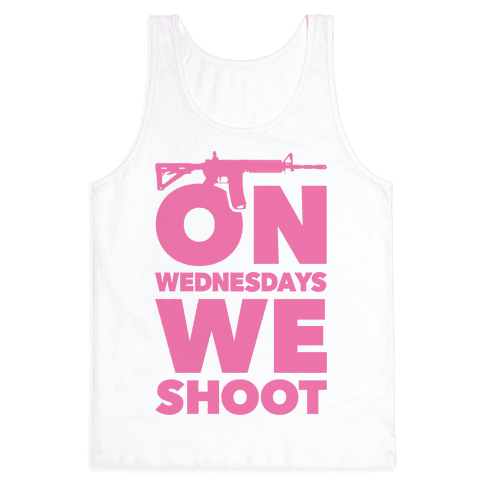 On Wednesdays We Shoot Tank Top