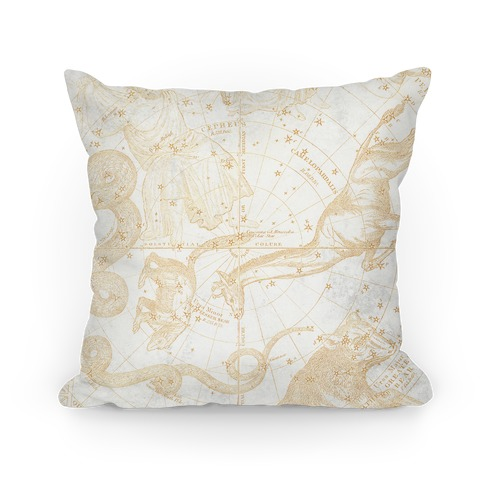 Vintage Constellation Map Pillow
