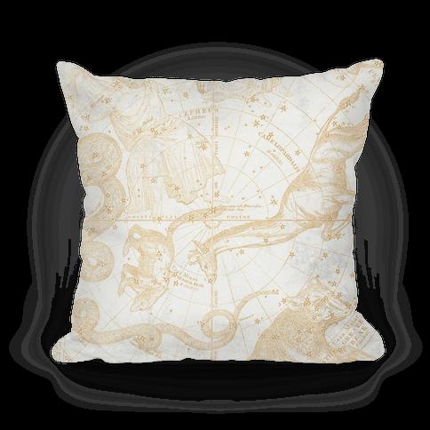 Vintage Constellation Map Pillow