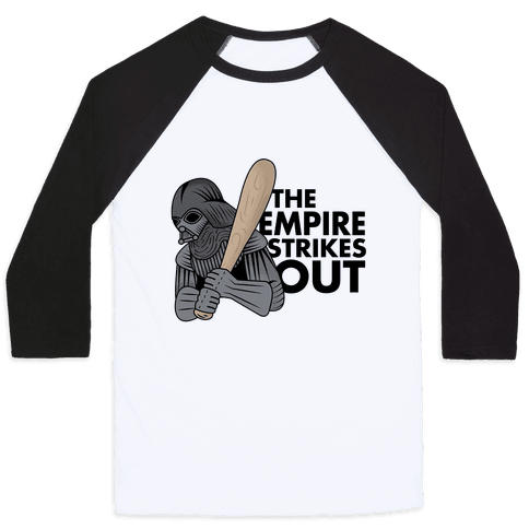 The Empire Strikes Out Baseball Tee