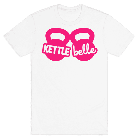 Kettle Belle Crop Top Mens T-Shirt