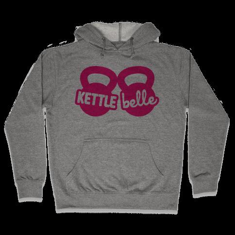 Kettle Belle Crop Top Hooded Sweatshirt