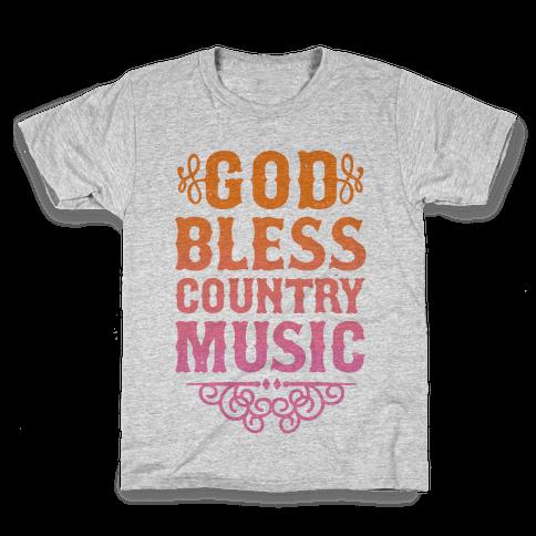 God Bless Country Music Kids T-Shirt