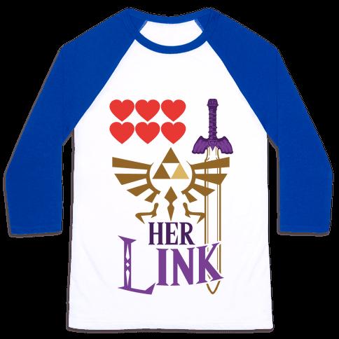 Her Link (Part 2) Baseball Tee