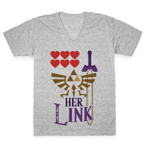 Her Link (Part 2) V-Neck Tee Shirt