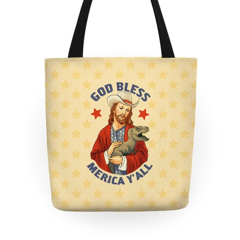 God Bless Merica Y'all Tote