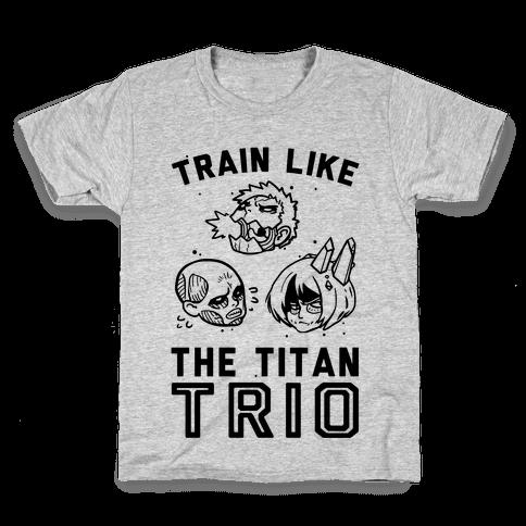Train Like The Titan Trio Kids T-Shirt