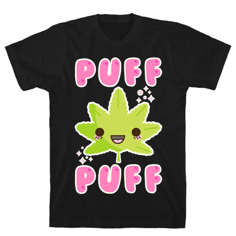 Puff Puff The Kawaii Pot Leaf Mens T-Shirt