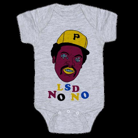 LSD No-No Hitter (Baseball) Baby Onesy