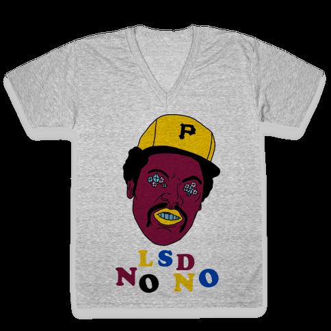 LSD No-No Hitter (Baseball) V-Neck Tee Shirt