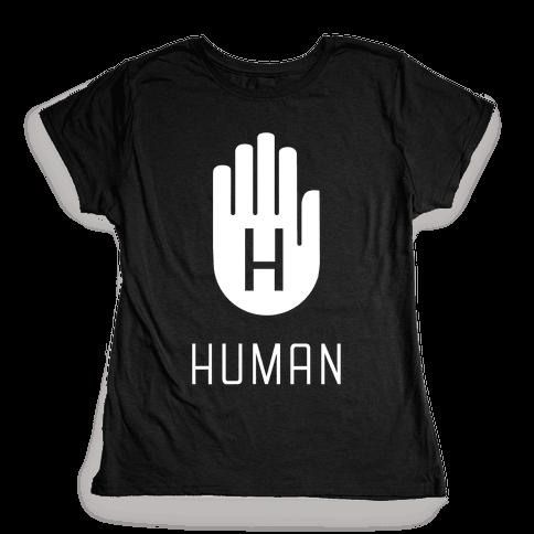 The HUMAN Hand Womens T-Shirt