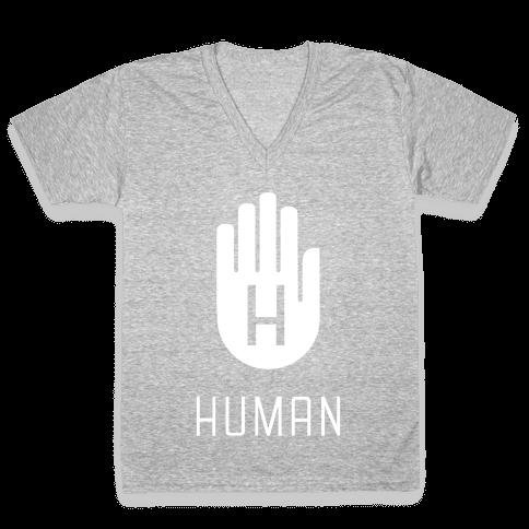The HUMAN Hand V-Neck Tee Shirt