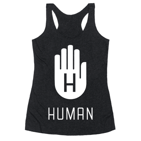 The HUMAN Hand Racerback Tank Top