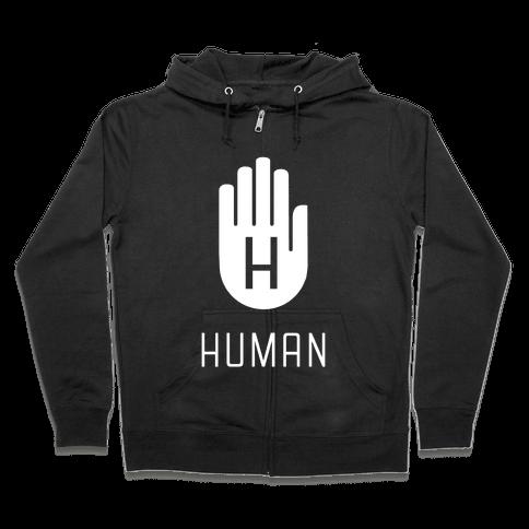 The HUMAN Hand Zip Hoodie