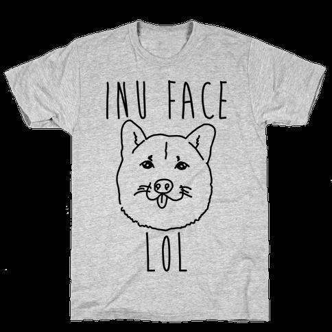 Inu Face Lol Mens T-Shirt