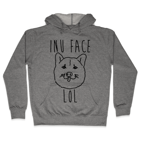 Inu Face Lol Hooded Sweatshirt