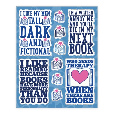 Book Lovers Sticker/Decal Sheet