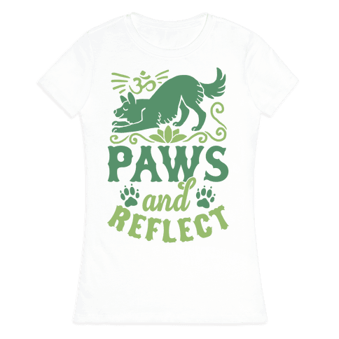 Paws And Reflect (Dog) Womens T-Shirt
