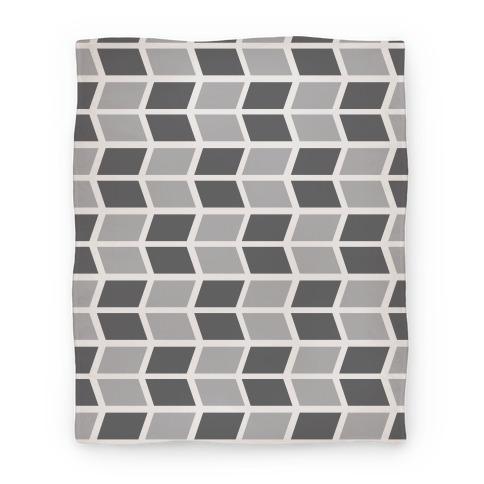 Parallelogram Pattern Blanket (Gray) Blanket