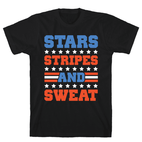Stars Stripes and Sweat Mens T-Shirt