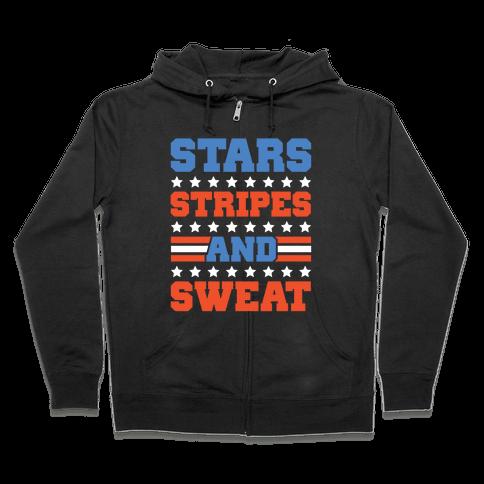 Stars Stripes and Sweat Zip Hoodie