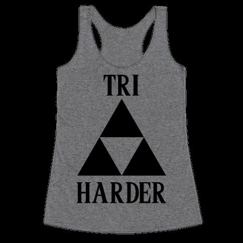 Tri Harder Racerback Tank Top