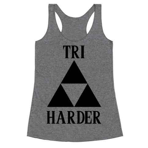 Tri Harder Racerback Tank Top