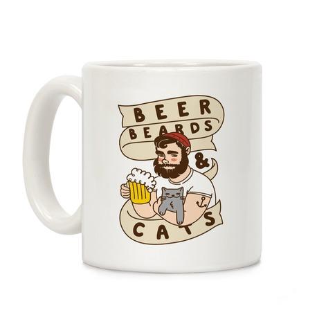 Beer, Beards and Cats Coffee Mug