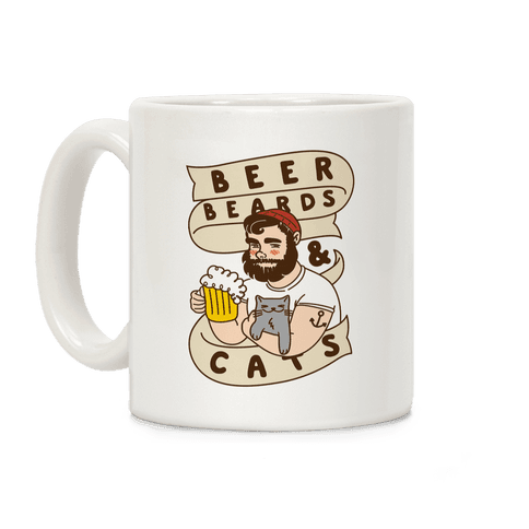 Beer, Beards and Cats Coffee Mug