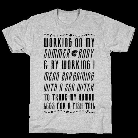 Mermaid Summer Body Mens T-Shirt
