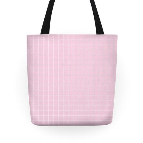 Pink Grid Tote