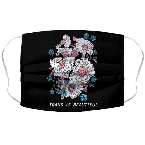 Trans is beautiful Accordion Face Mask